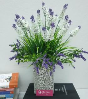 Bình hoa lụa cao cấp lavender biểu tượng của sự chung thuỷ