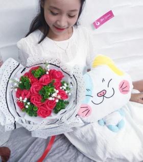 Bó hoa hồng cao cấp mang tình yêu nồng nhiệt, cháy bỏng