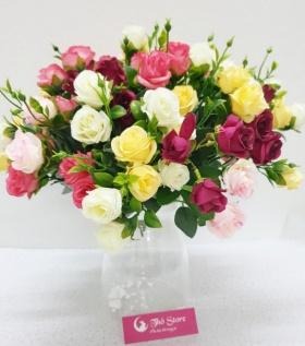 Bình hoa hồng 100 bông