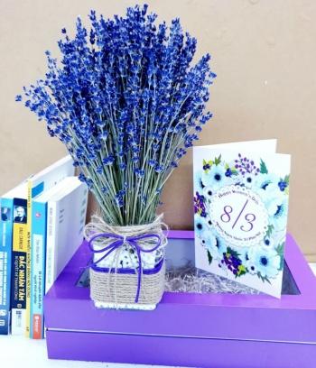 Bình hoa Lavender để bàn cao cấp