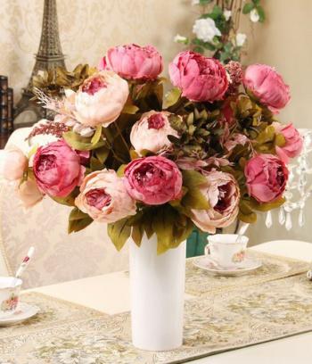 Bình Hoa Mẫu Đơn Peony Châu Âu, 30 bông