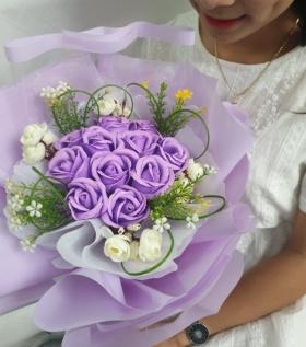 Bó hoa hồng cao cấp sắc tím nhung nhớ