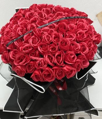 Bó hoa hồng sáp 99b đỏ