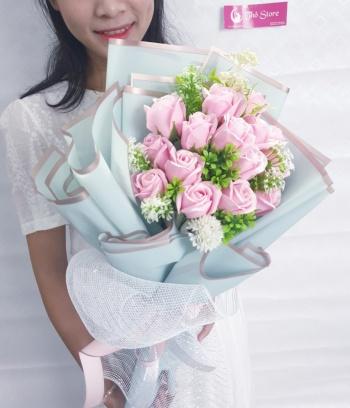 Bó hoa hồng sáp cao cấp tình yêu say đắm lãng mạn