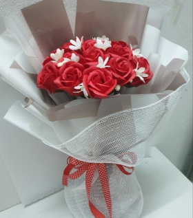 Bó hoa hồng sáp to cao cấp 12b