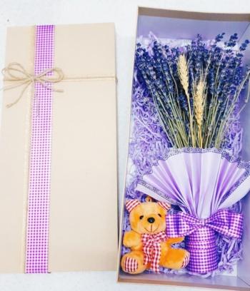 Combo Lavender + gấu bông mini xinh xắn
