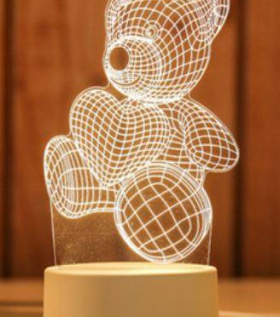 Đèn Led 3D chuyển màu hình Gấu Bông
