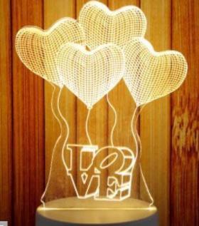 Đèn Led chuyển màu hình tim
