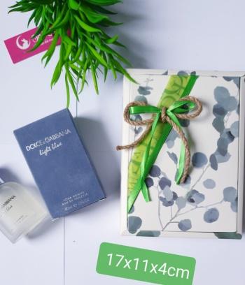 Hộp quà gập xanh luxury