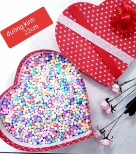 Hộp quà trái tim đỏ 22