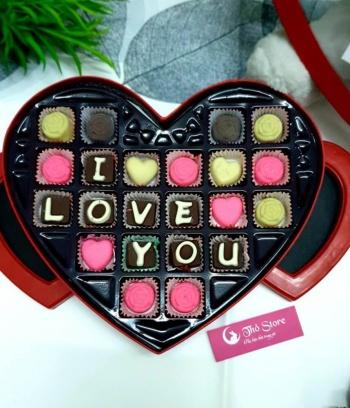 Hộp Socola Valentine 2020 hình trái tim