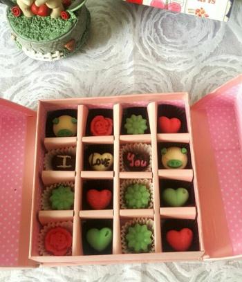Hộp Socola Valentine vuông
