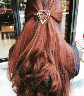 Kẹp tóc Hình học Hàn Quốc Kim Cương