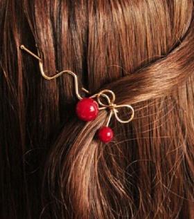Kẹp tóc hình học Hàn Quốc  Quả Cherry