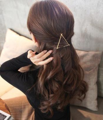Kẹp tóc hình học Hàn Quốc  Tam giác