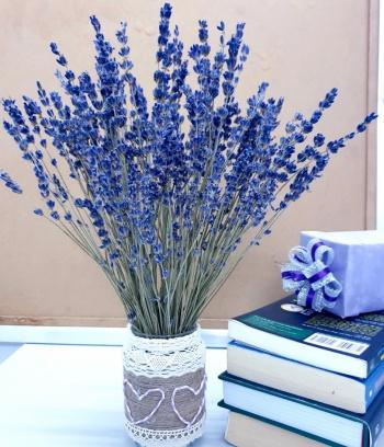 Lọ handmade cắm Lavender để bàn