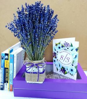 Lọ Lavender vuông kèm hộp